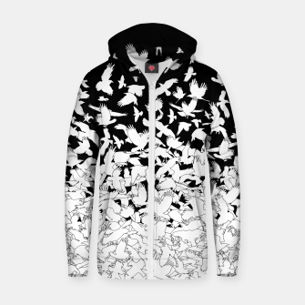 Thumbnail image of Dove Flying Birds Abstract Love Peace Hope Pattern Zip up hoodie, Live Heroes