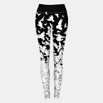 Dove Flying Birds Abstract Love Peace Hope Pattern Leggings thumbnail image