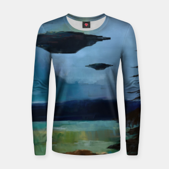 Thumbnail image of Cloudy Skies Women sweater, Live Heroes
