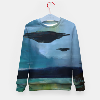 Thumbnail image of Cloudy Skies Kid's sweater, Live Heroes
