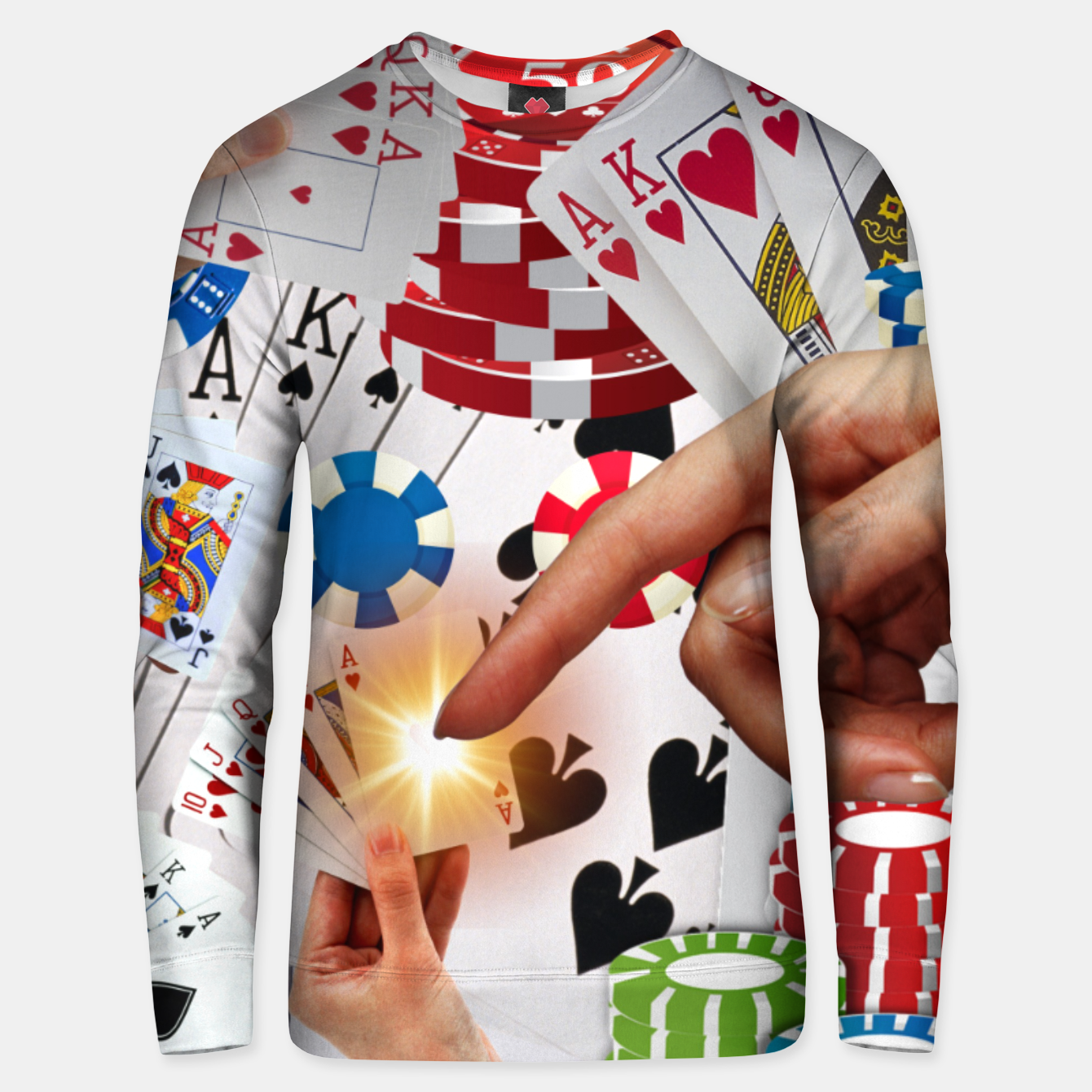 Image of POKER NIGHT TOO Unisex sweater - Live Heroes