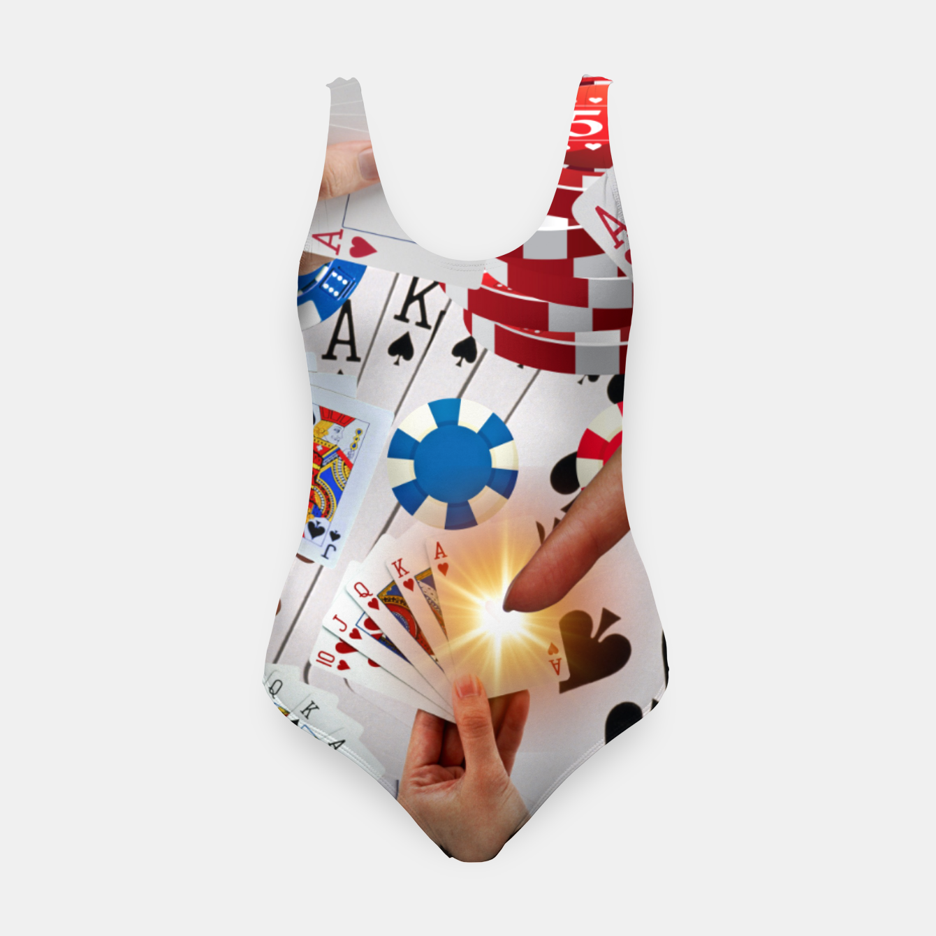 Image of POKER NIGHT TOO Swimsuit - Live Heroes