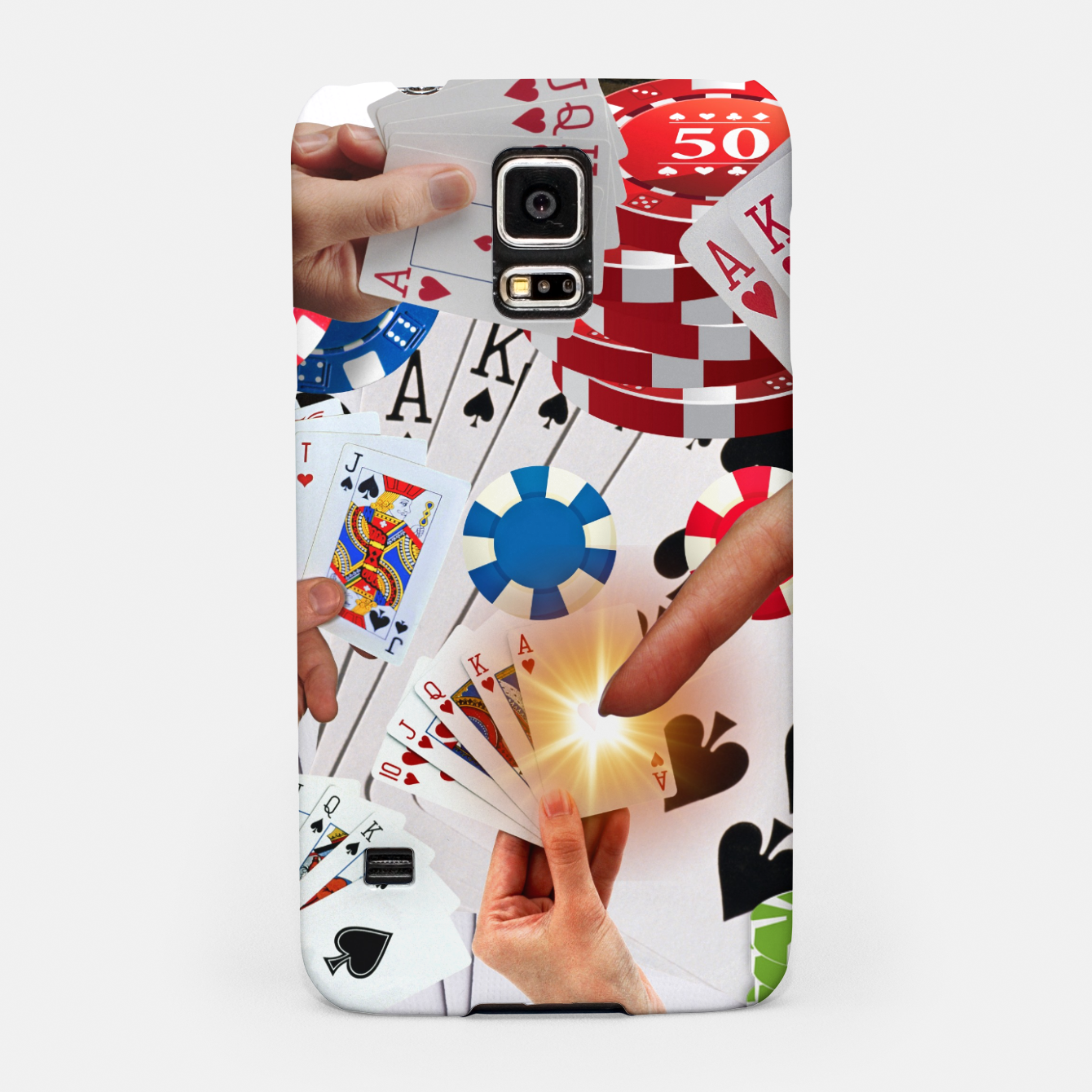Image of POKER NIGHT TOO Samsung Case - Live Heroes