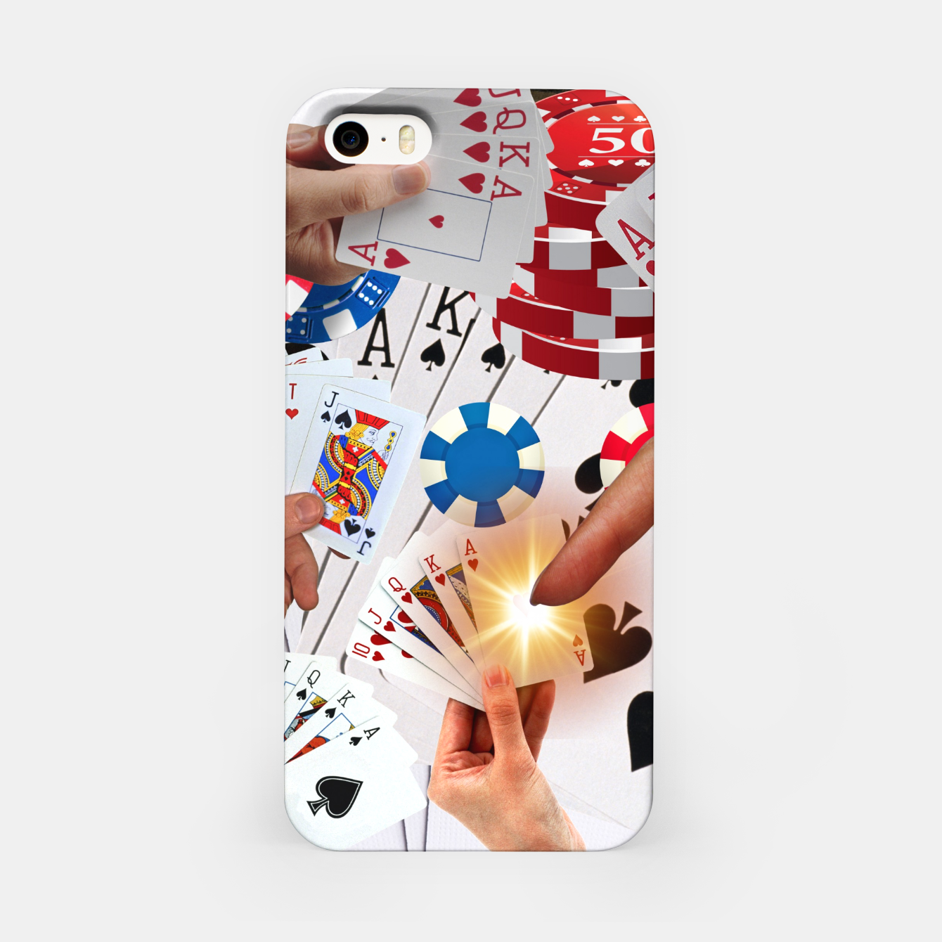 Image of POKER NIGHT TOO iPhone Case - Live Heroes