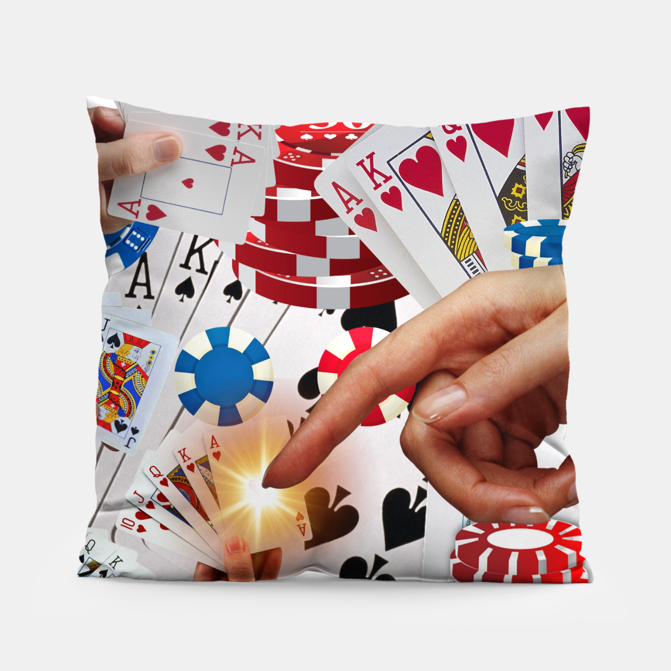 Image of POKER NIGHT TOO Pillow - Live Heroes