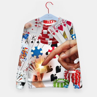 Thumbnail image of POKER NIGHT TOO Kid's sweater, Live Heroes