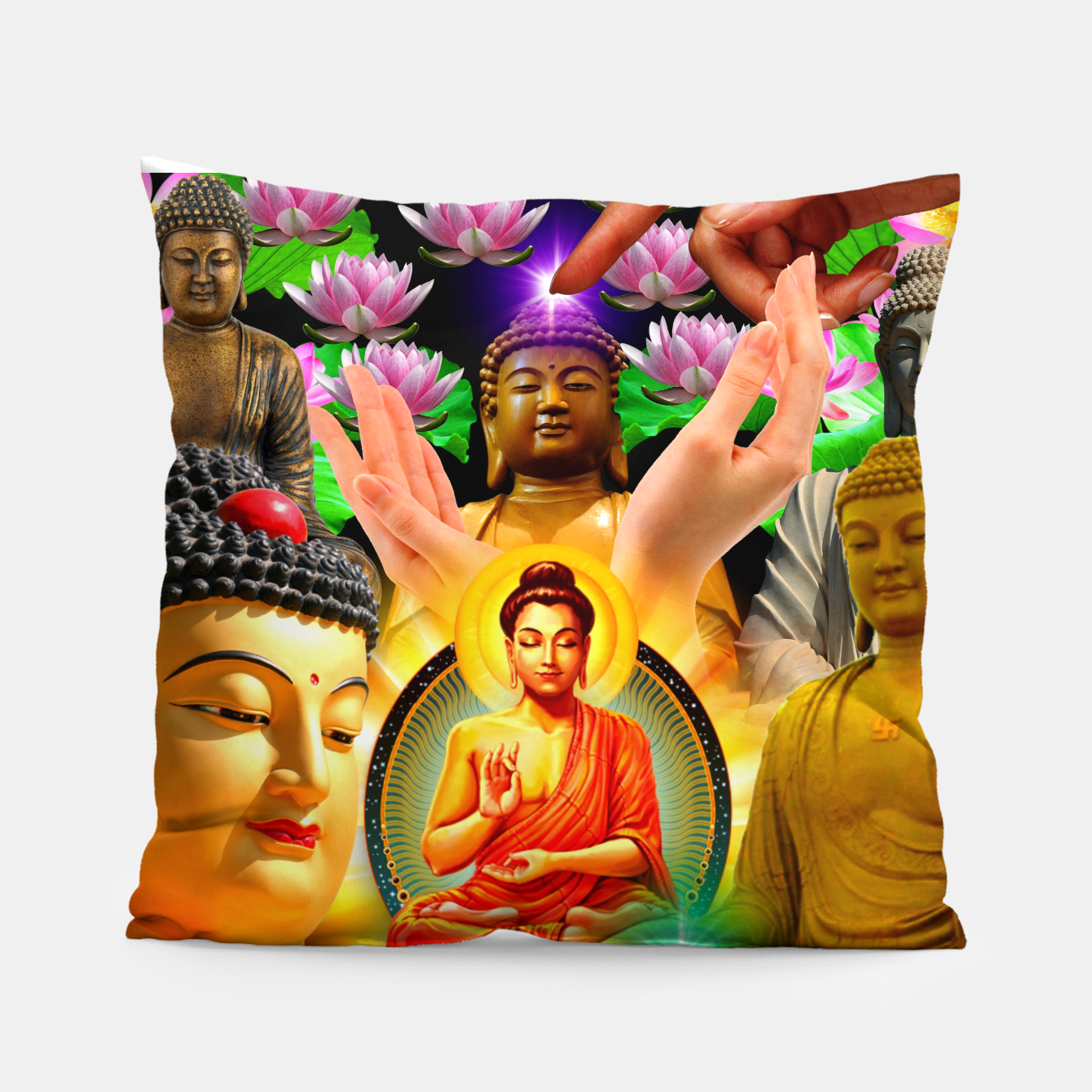 Image of Buddha 2 Pillow - Live Heroes