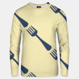 Thumbnail image of Forks on brown Unisex sweater, Live Heroes