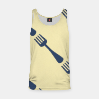 Thumbnail image of Forks on brown Tank Top, Live Heroes