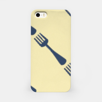 Forks on brown iPhone Case thumbnail image