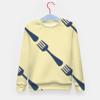 Forks on brown Kid's sweater thumbnail image
