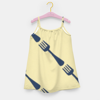 Thumbnail image of Forks on brown Girl's dress, Live Heroes
