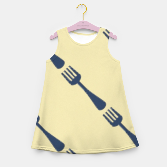 Thumbnail image of Forks on brown Girl's summer dress, Live Heroes