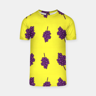 Thumbnail image of Purple grapes on yellow T-shirt, Live Heroes