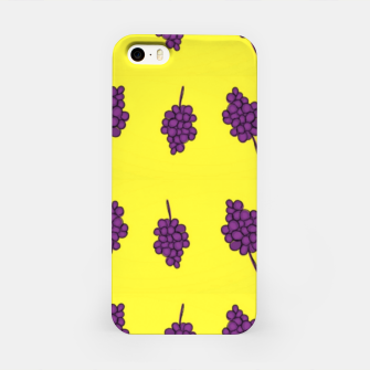 Purple grapes on yellow iPhone Case thumbnail image