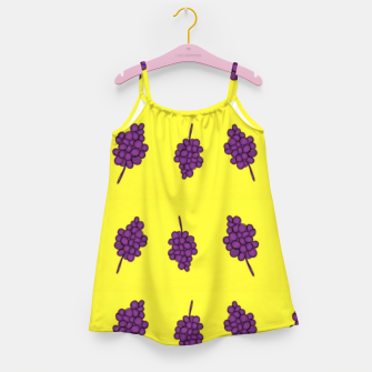 Thumbnail image of Purple grapes on yellow Girl's dress, Live Heroes
