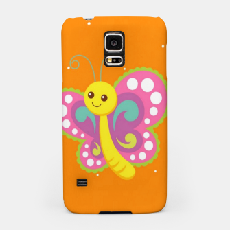 Thumbnail image of Cute butterfly on orange Samsung Case, Live Heroes