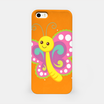 Thumbnail image of Cute butterfly on orange iPhone Case, Live Heroes