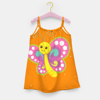 Thumbnail image of Cute butterfly on orange Girl's dress, Live Heroes