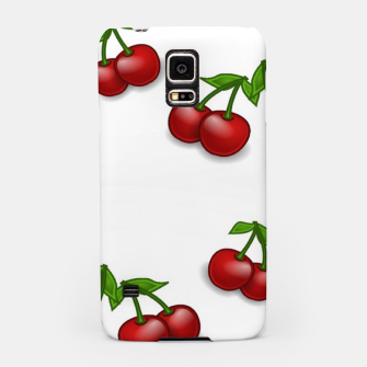 Miniatur Red cherries on white Samsung Case, Live Heroes