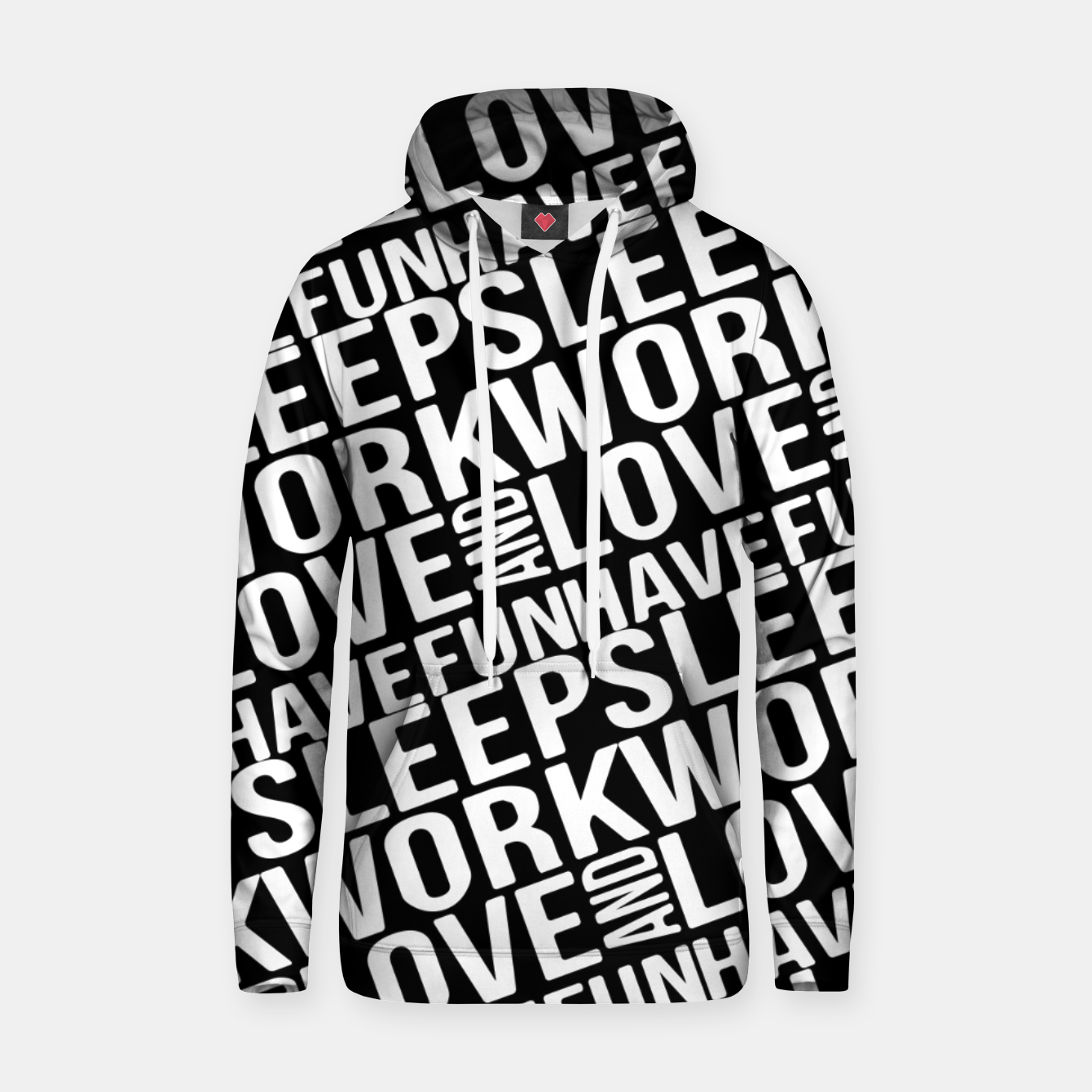 Image of Motivational Phrases Typographic Design Hoodie - Live Heroes