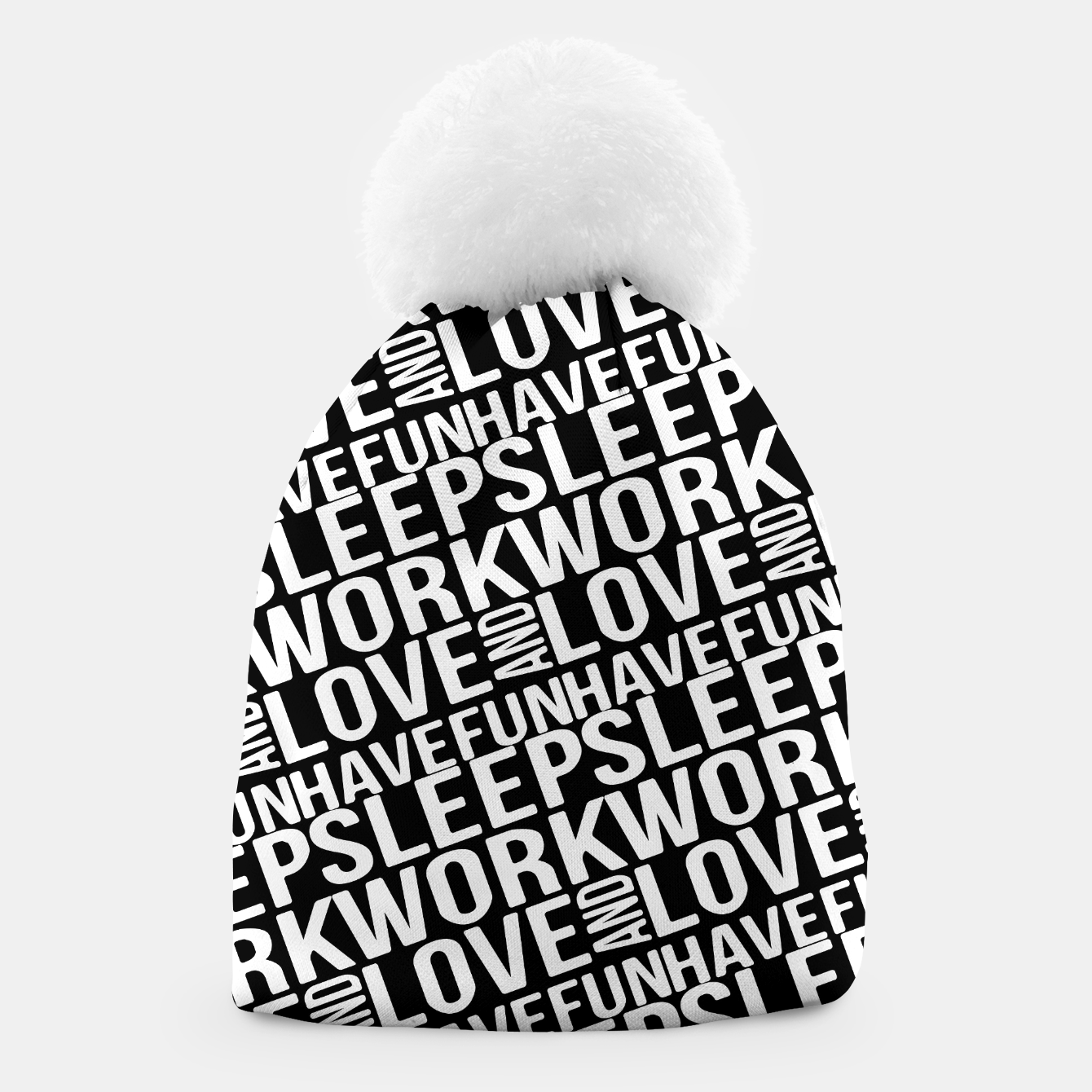 Image of Motivational Phrases Typographic Design Beanie - Live Heroes