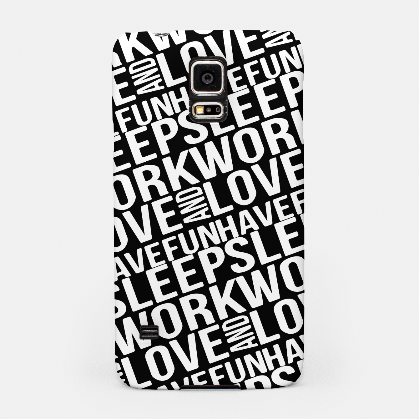 Image of Motivational Phrases Typographic Design Samsung Case - Live Heroes
