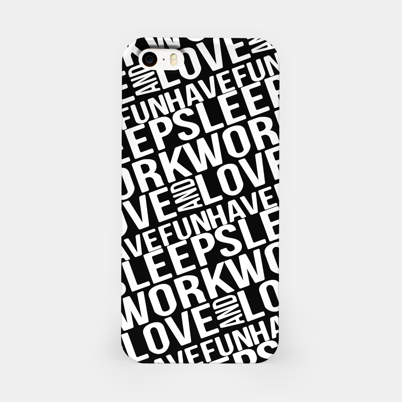 Image of Motivational Phrases Typographic Design iPhone Case - Live Heroes