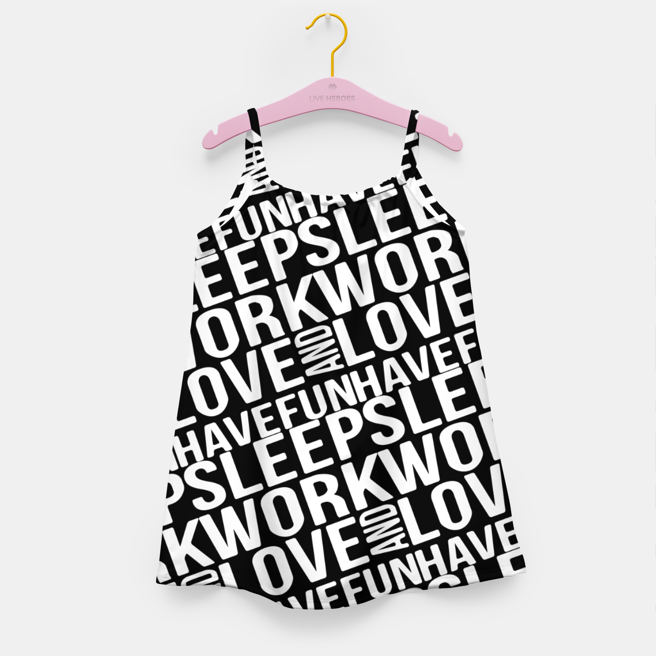 Image of Motivational Phrases Typographic Design Girl's dress - Live Heroes