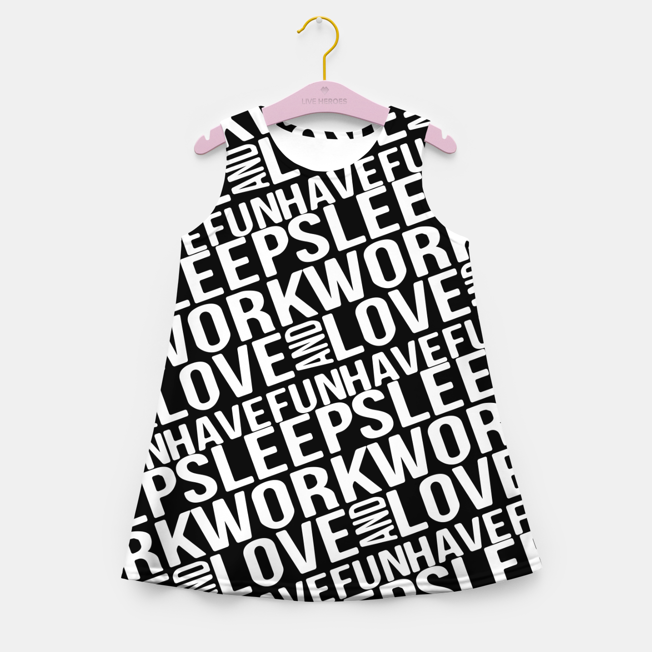 Image of Motivational Phrases Typographic Design Girl's summer dress - Live Heroes