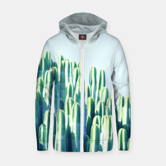 Cactus by the Sea  Zip up hoodie thumbnail image