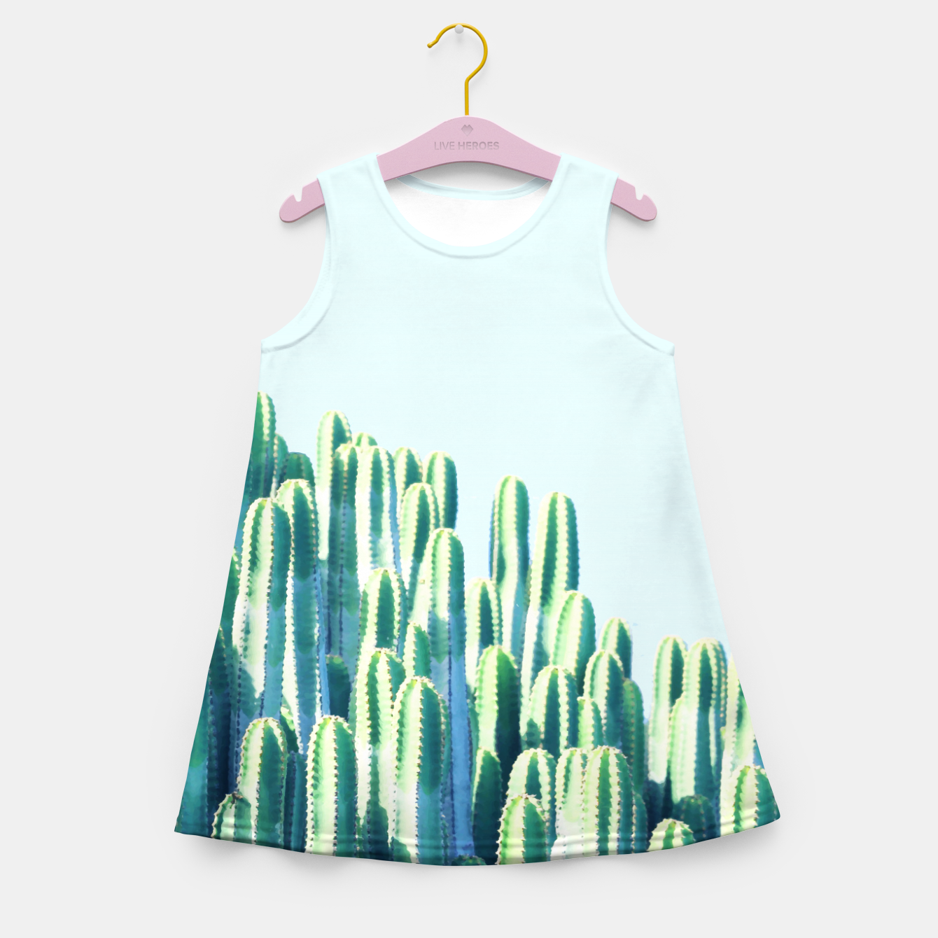 Image of Cactus by the Sea  Girl's summer dress - Live Heroes