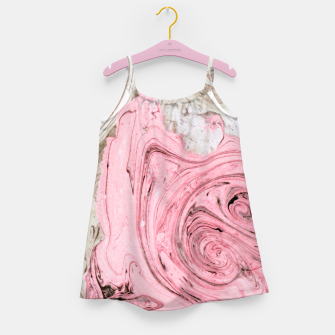 Thumbnail image of Nude+ Pink Marbling Art  Girl's dress, Live Heroes