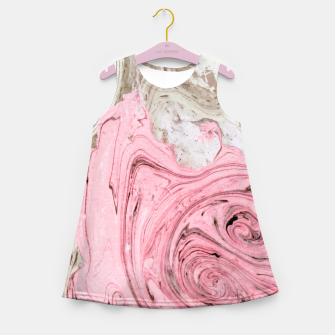 Thumbnail image of Nude+ Pink Marbling Art  Girl's summer dress, Live Heroes