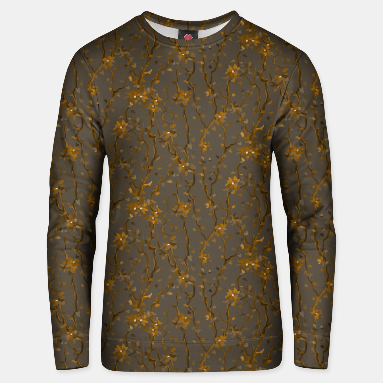 Image of Blossoming veins of the yellow neon world  Unisex sweater - Live Heroes