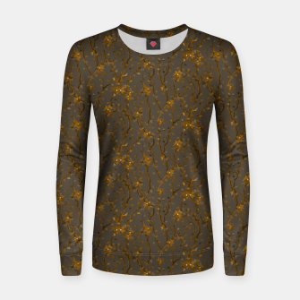Blossoming veins of the yellow neon world  Women sweater thumbnail image