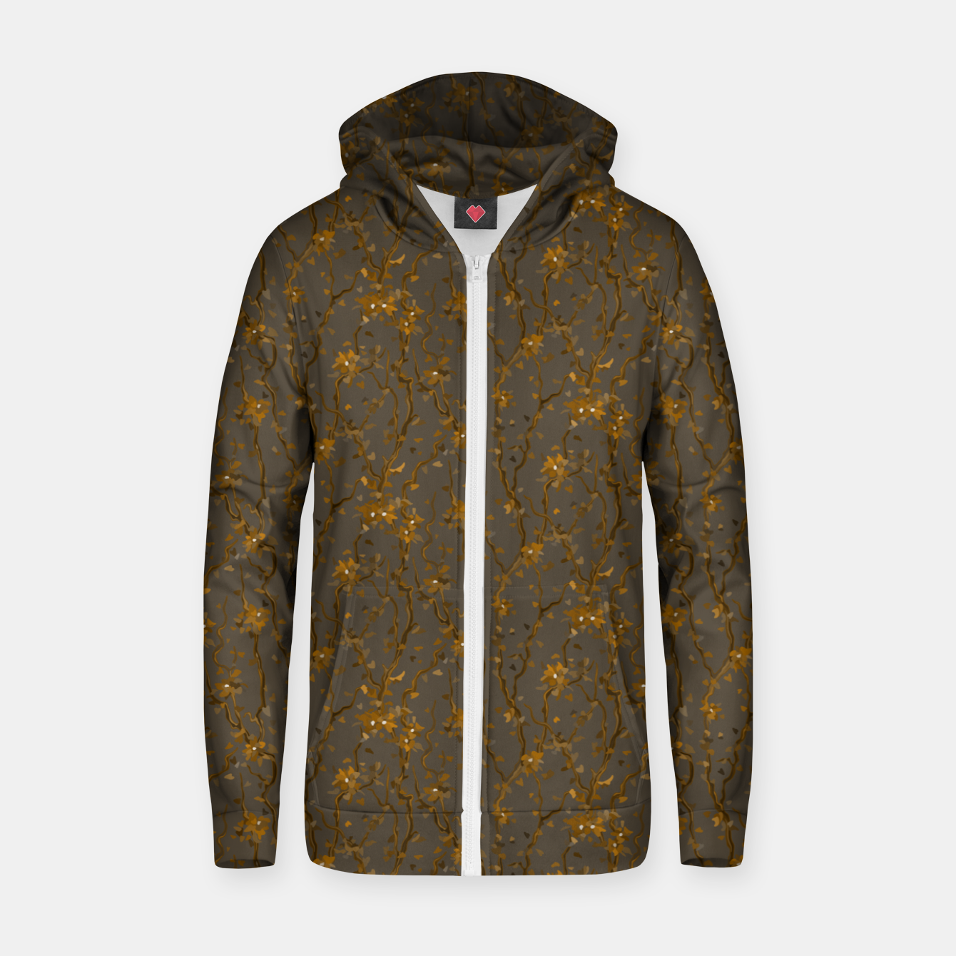 Image of Blossoming veins of the yellow neon world  Zip up hoodie - Live Heroes