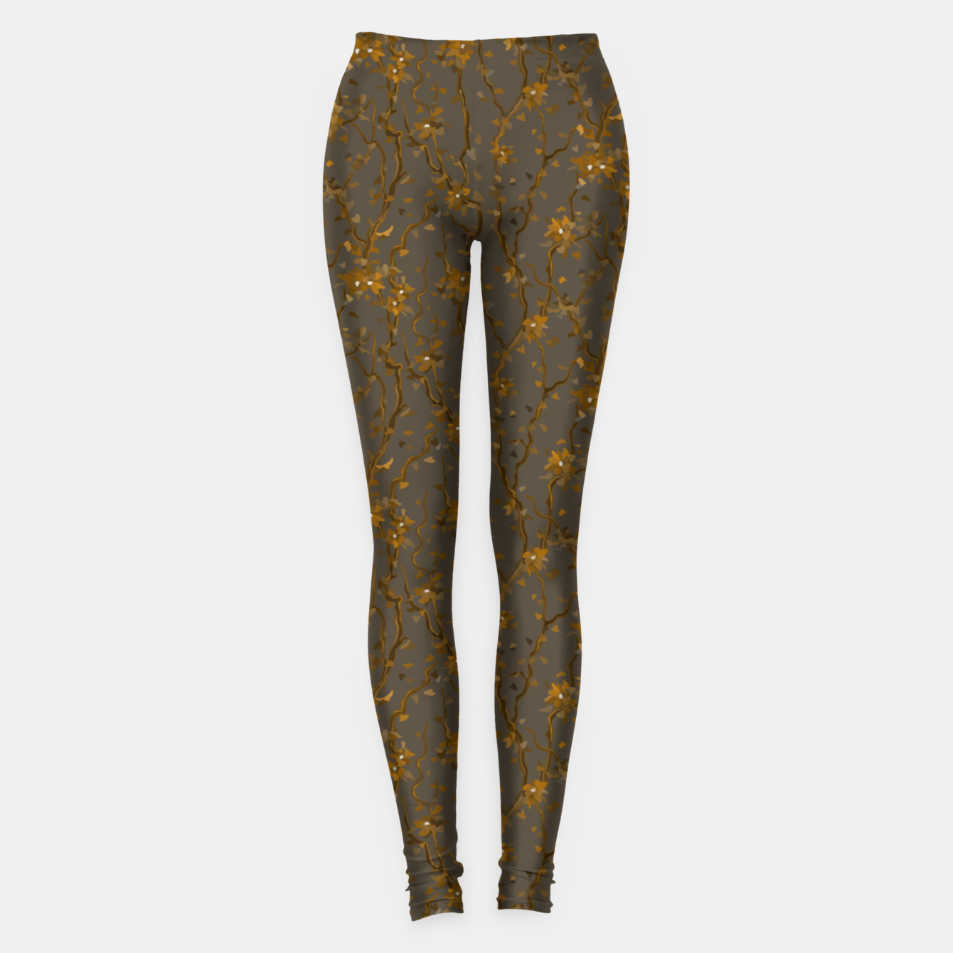 Image of Blossoming veins of the yellow neon world  Leggings - Live Heroes
