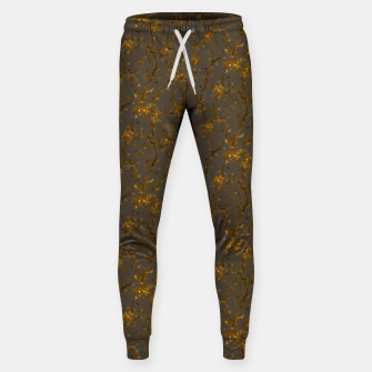 Blossoming veins of the yellow neon world  Sweatpants thumbnail image