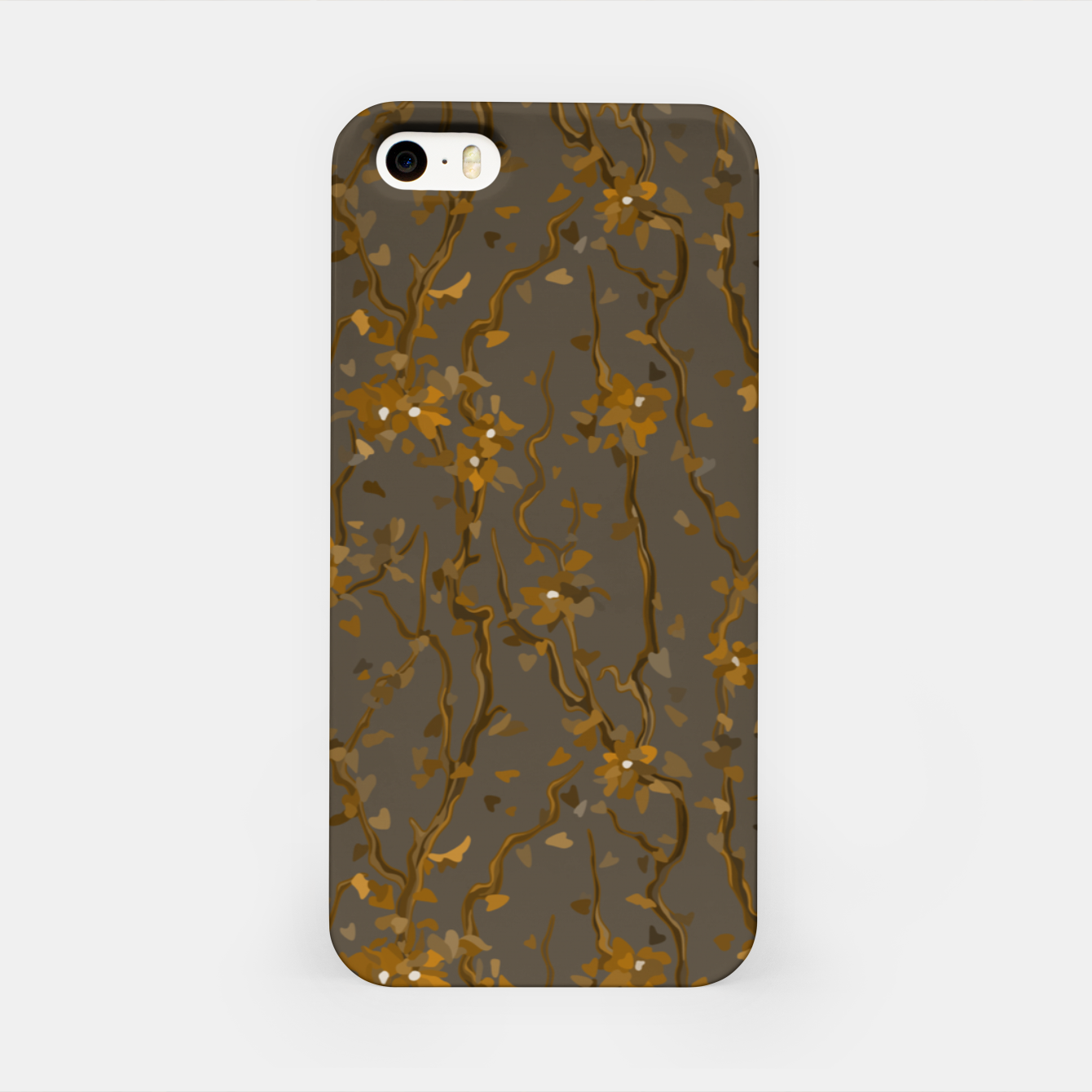 Image of Blossoming veins of the yellow neon world  iPhone Case - Live Heroes