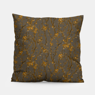 Blossoming veins of the yellow neon world  Pillow thumbnail image