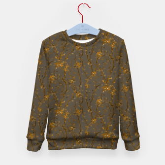 Blossoming veins of the yellow neon world  Kid's sweater thumbnail image