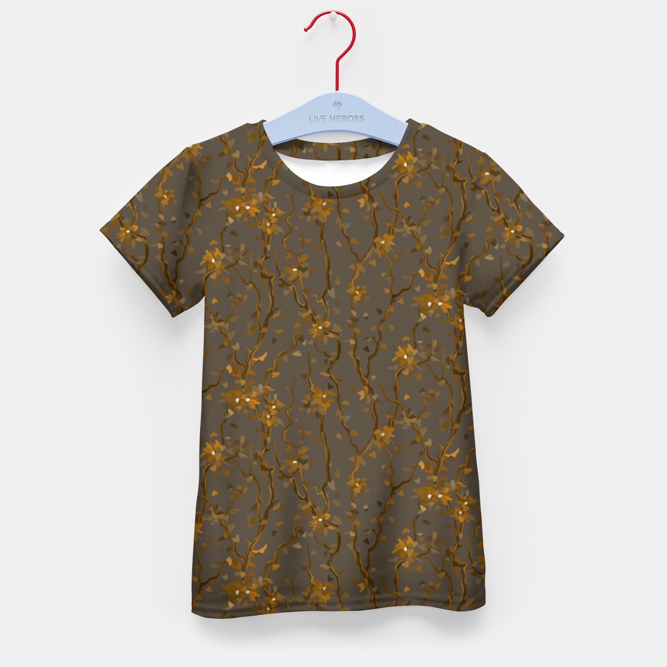 Image of Blossoming veins of the yellow neon world  Kid's t-shirt - Live Heroes