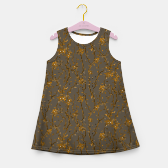Blossoming veins of the yellow neon world  Girl's summer dress thumbnail image