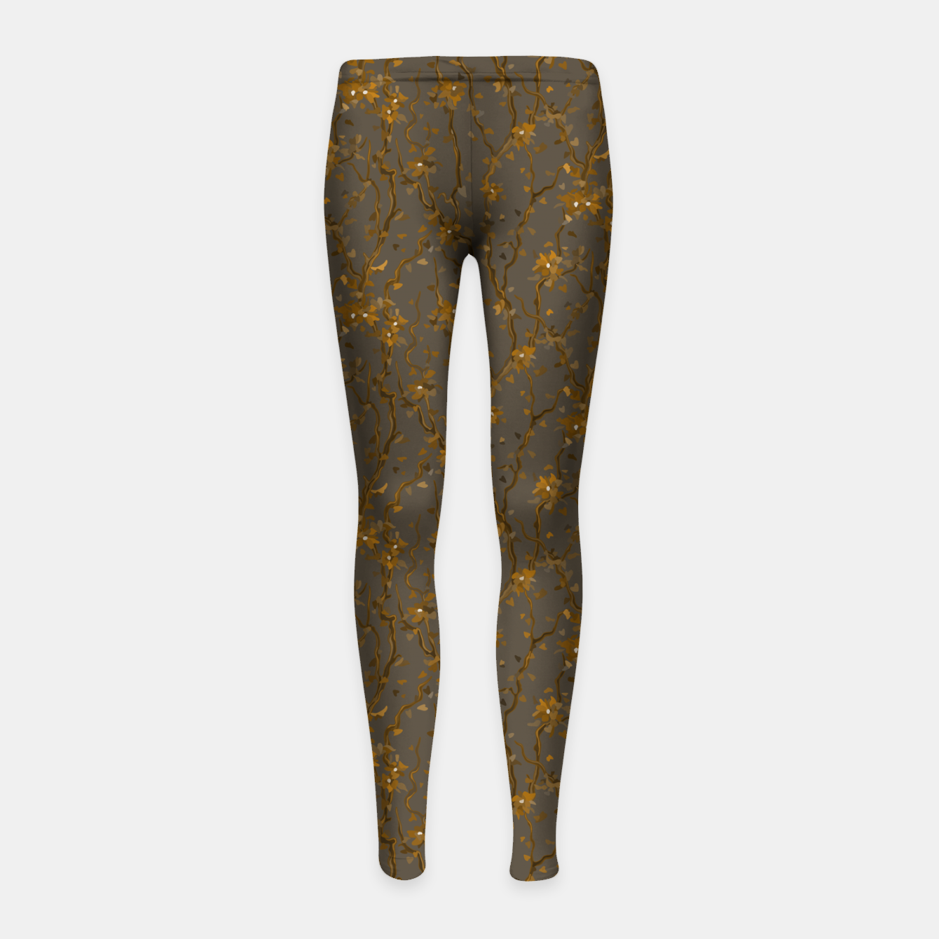 Image of Blossoming veins of the yellow neon world  Girl's leggings - Live Heroes
