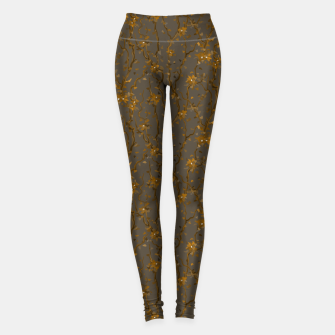 Blossoming veins of the yellow neon world  Leggings thumbnail image