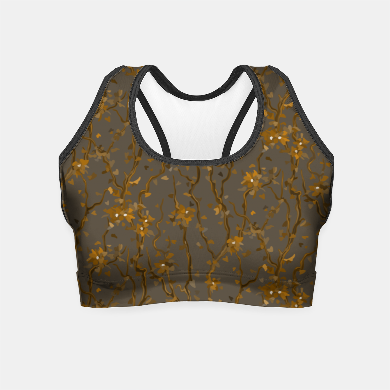 Image of Blossoming veins of the yellow neon world  Crop Top - Live Heroes