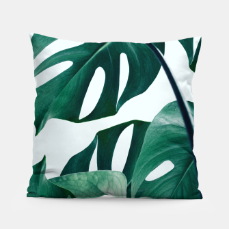 Thumbnail image of Monstera Tropical Pillow, Live Heroes