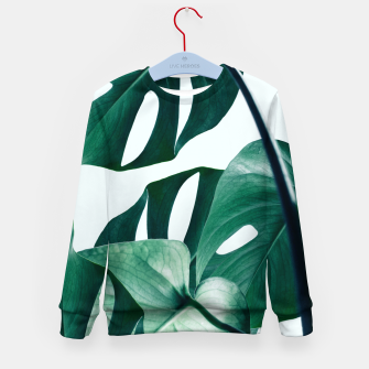 Thumbnail image of Monstera Tropical Kid's sweater, Live Heroes