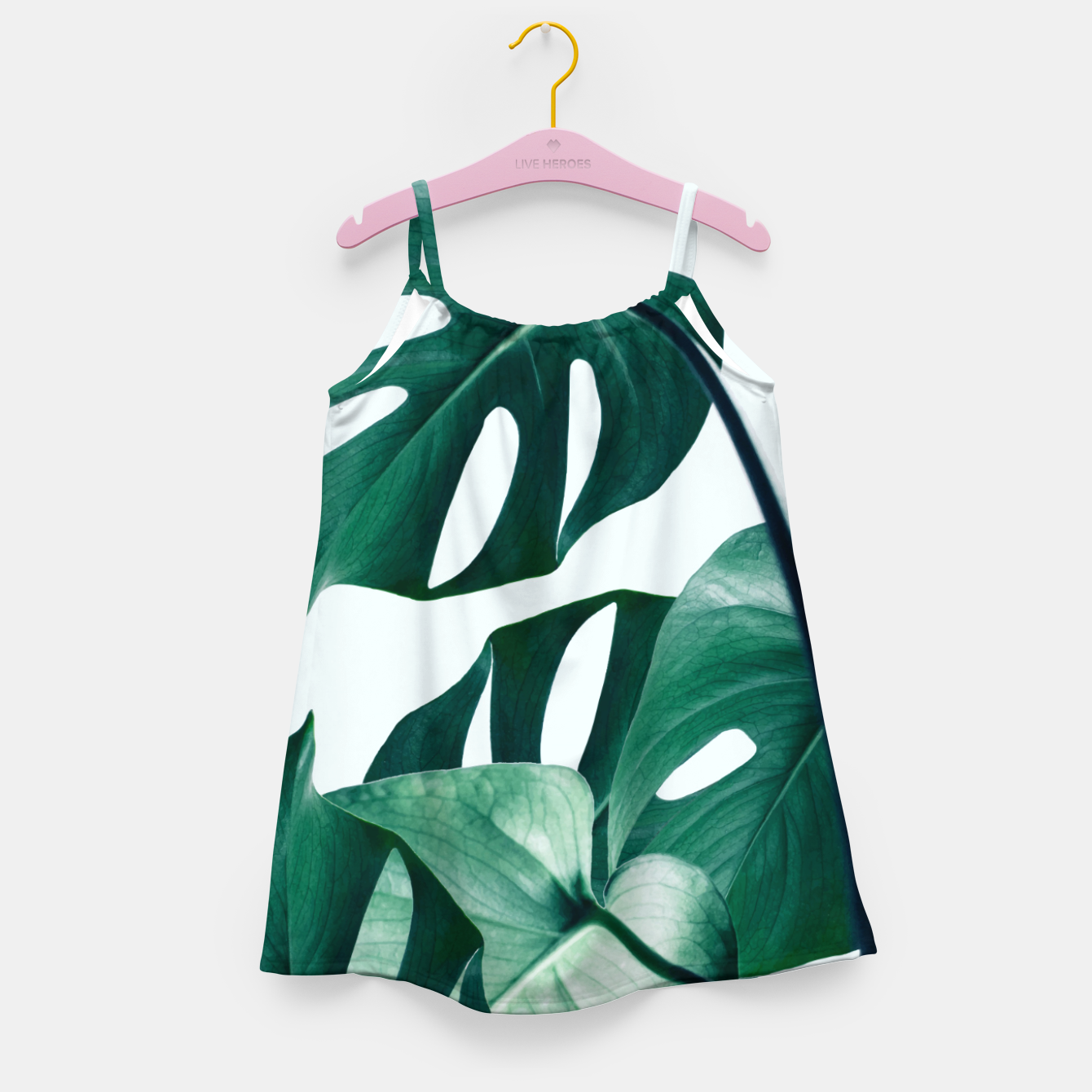 Image of Monstera Tropical Girl's dress - Live Heroes